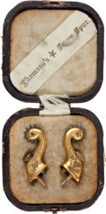 "Military & Patriotic:Civil War, Cased Set Of ""Thomson's Screw Spurs"" C. 1860-1870...."
