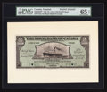 Canadian Currency: , Port of Spain, Trinidad- The Royal Bank of Canada $5 (£1-0-10)January 2, 1920 Ch. # 630-66-02FP/BP Face/Back Proofs. ... (Total:2 notes)