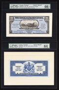 Canadian Currency: , Port of Spain, Trinidad- The Royal Bank of Canada $20 (£4-3-4)January 2, 1920 Ch. # 630-66-04FP/BP Face/Back Proofs. ... (Total:2 notes)