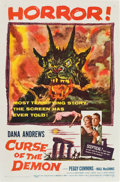 """Movie Posters:Horror, Curse of the Demon (Columbia, 1957). One Sheet (27"""" X 41"""").. ..."""