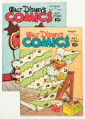Golden Age (1938-1955):Cartoon Character, Walt Disney's Comics and Stories #83 and 85 Group (Dell, 1947)Condition: Average FN/VF.... (Total: 2 Comic Books)