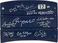 Football Collectibles:Others, Cowboys Legends Multi Signed Texas Stadium Seatback....