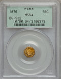 California Fractional Gold: , 1876 50C Liberty Octagonal 50 Cents, BG-932, High R.4, MS64 PCGS.PCGS Population (11/5). NGC Census: (2/3). (#10790)...