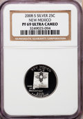 Proof Statehood Quarters, 2008-S 25C New Mexico Silver PR69 Ultra Cameo NGC. NGC Census:(0/0). PCGS Population (3765/349). Numismedia Wsl. Price fo...