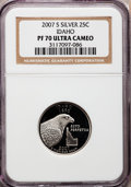 Proof Statehood Quarters, 2007-S 25C Idaho Silver PR70 Ultra Cameo NGC. NGC Census: (0). PCGSPopulation (252). Numismedia Wsl. Price for problem fr...