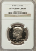 Proof Kennedy Half Dollars, 1976-S 50C Clad PR69 Ultra Cameo NGC. NGC Census: (339/0). PCGSPopulation (12747/32). Numismedia Wsl. Price for problem f...