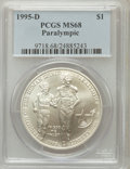 Modern Issues: , 1995-D $1 Olympic/Paralympics Silver Dollar MS68 PCGS. PCGSPopulation (43/1598). NGC Census: (9/1108). Numismedia Wsl. Pr...