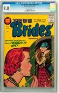 Golden Age (1938-1955):Romance, True Brides' Experiences #14 File Copy (Harvey, 1955) CGC VF/NM 9.0Cream to off-white pages....
