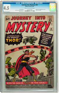 Journey Into Mystery #83 (Marvel, 1962) CGC VG+ 4.5 Cream to off-white pages