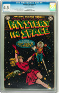 Golden Age (1938-1955):Science Fiction, Mystery in Space #1 (DC, 1951) CGC VG+ 4.5 Cream to off-whitepages....