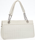 Luxury Accessories:Bags, Heritage Vintage: Chanel Vintage White Lambskin LeatherQuilted Shoulder Bag . ...
