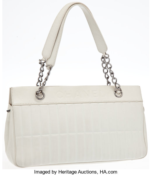 e3a6a54dd9bc Luxury Accessories:Bags, Heritage Vintage: Chanel Vintage White Lambskin  LeatherQuilted Shoulder Bag .