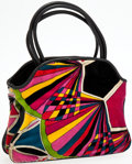 Luxury Accessories:Bags, Heritage Vintage: Emilio Pucci 1960's Corduroy Graphic PrintBag. ...