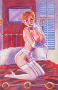 Pin-up and Glamour Art, GREG HILDEBRANDT (American, b. 1939). New Orleans Nightlife.Mixed media on board. 15.75 x 10.25 in.. Not signed. ...