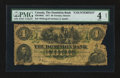 Canadian Currency: , Toronto, ON- The Dominion Bank $4 Feb. 1, 1874 Ch. # 220-10-02CCounterfeit. ...