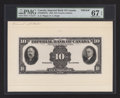 Canadian Currency: , Toronto, ON- Imperial Bank of Canada $10 Nov. 1, 1933 Ch.#375-20-04FPa Face Proof. ...