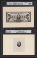 Canadian Currency: , Toronto, ON- Imperial Bank of Canada $20 Nov. 1, 1933 Ch.#375-20-06aFP Face Proof. ... (Total: 2 items)
