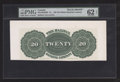 Canadian Currency: , Halifax, NS- The Halifax Banking Company $20 ND (1863) Ch. #335-14-02-02BP Back Proof. ...