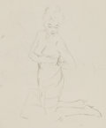 Pin-up and Glamour Art, FRITZ WILLIS (American, 1907-1979). Group of nine femalestudies. Pencil on tracing paper. 15.5 x 11.75 in. (largest).N... (Total: 9 Items)
