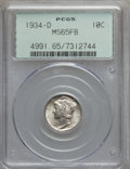 Mercury Dimes: , 1934-D 10C MS65 Full Bands PCGS. PCGS Population (265/160). NGCCensus: (70/37). Mintage: 6,772,000. Numismedia Wsl. Price ...