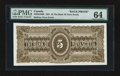 Canadian Currency: , Halifax, NS- The Bank of Nova Scotia $5 1881 Ch. # 550-20-10BP BackProof. ...