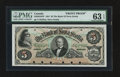 Canadian Currency: , Halifax, NS- The Bank of Nova Scotia $5 July 2, 1881 Ch. # 550-20-10FP Face Proof. ...