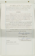 Football Collectibles:Others, 1962 Ernie Davis Signed Cleveland Browns Rookie Contract....