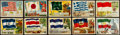 Non-Sport Cards:Sets, 1956 Topps Flags of The World Complete Set (80). ...