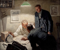 EDMUND FRANKLIN WARD (American, 1892-1991) The Doctor Oil on canvas 20 x 28 in. Signed upper r