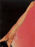 Pin-up and Glamour Art, RUDY GARCIA (American, 20th Century). Berkshire Hosieryadvertisement. Acrylic on board. 19.25 x 14.25 in.. Signedlower...