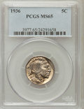 Buffalo Nickels: , 1936 5C MS65 PCGS. PCGS Population (2121/1210). NGC Census:(891/1086). Mintage: 119,001,424. Numismedia Wsl. Price for pro...
