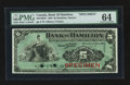 Canadian Currency: , Hamilton, ON- The Bank of Hamilton $5 Jan. 2, 1904 Ch. # 345-18-02SSpecimen. ...