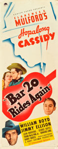 """Movie Posters:Western, Bar 20 Rides Again (Paramount, 1935). Insert (14"""" X 36"""").. ..."""