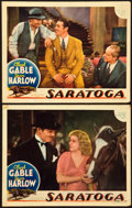"Movie Posters:Comedy, Saratoga (MGM, 1937). Lobby Cards (2) (11"" X 14"").. ... (Total: 2Items)"