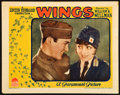 "Movie Posters:Academy Award Winners, Wings (Paramount, R-Late 1920s). Lobby Card (11"" X 14"").. ..."