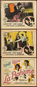 """Movie Posters:Drama, La Bohème (MGM, 1926). Title Lobby Card and Lobby Cards (2) (11"""" X14"""").. ... (Total: 3 Items)"""