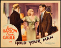"""Movie Posters:Drama, Hold Your Man (MGM, 1933). Lobby Card (11"""" X 14"""").. ..."""