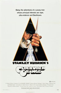 """A Clockwork Orange (Warner Brothers, 1971). One Sheet (27"""" X 41"""") X-Rated Style"""
