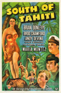 "Movie Posters:Action, South of Tahiti (Universal, 1941). One Sheet (27"" X 41""). Action.. ..."