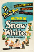 "Movie Posters:Animation, Snow White and the Seven Dwarfs (RKO, R-1943). One Sheet (27"" X 41"").. ..."