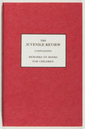Books:Children's Books, The Juvenile Review. Toronto Public Library, 1982. Facsimileedition, limited to 1500 unnumbered copies. Twelvemo. P...