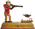 Advertising, Sportsman / Fowler Mechanical Bank...