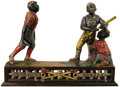 "Antiques:Toys, ""Darktown Battery"" Mechanical Bank..."
