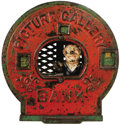 "Antiques:Toys, ""Picture Gallery Bank"" Cast Iron Bank..."