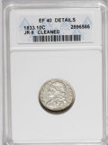 Bust Dimes: , 1833 10C --Cleaned--ANACS. XF40 Details. JR-9. NGC Census: (3/206).PCGS Population (14/189). Mintage: 485,000. Numismedia W...