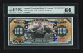 Canadian Currency: , Toronto, ON- The Canadian Bank of Commerce $100 May 2, 1898 Ch. # 75-14-57as Yukon Overprint Specimen. ...