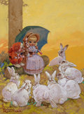 Pulp, Pulp-like, Digests, and Paperback Art, HARRY ROUNTREE (British, 1878-1950). Children's book storyillustration. Watercolor and gouache on board. 12.25 x 9.5in...