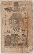 Books:Americana & American History, [Almanac]. The American Comic Almanac. Ellms & Felt,1834. Twelvemo. Publisher's wrappers. Fair....