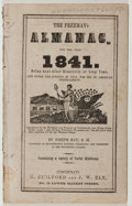 Books:Americana & American History, [Almanac]. Joseph Ray. The Freeman's Almanac. Guilford,1841. Twelvemo. Publisher's wrappers. Good....