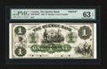 Canadian Currency: , Quebec, LC- The Quebec Bank $1 Jan. 2, 1863 Ch. # 620-34-02FP FaceProof. ...